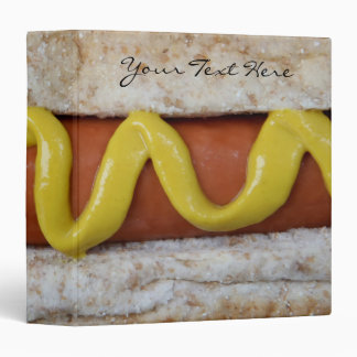 delicious hot dog with mustard photograph vinyl binders