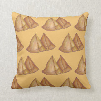 Delicious Indian Food Samosas Fried Samosa Pastry Throw Pillow