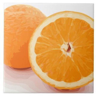 Delicious Juicy Orange Slices Tile