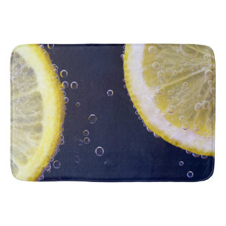 Delicious Lemon Slices in Water Bath Mat