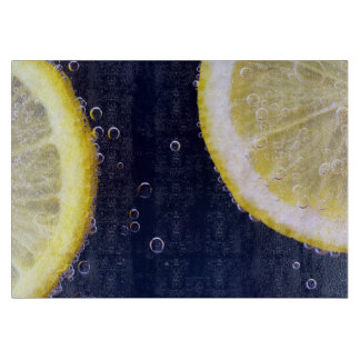 Delicious Lemon Slices in Water Cutting Board
