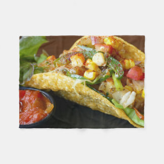 delicious Mexican Tacos photograph Fleece Blanket