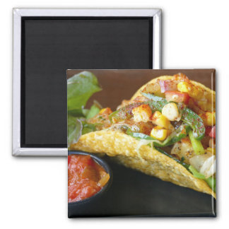 delicious Mexican Tacos photograph Magnet