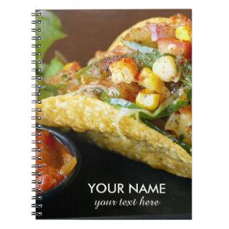 delicious Mexican Tacos photograph Notebook