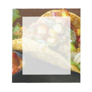 delicious Mexican Tacos photograph Notepad
