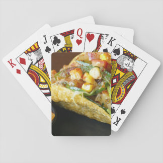 delicious Mexican Tacos photograph Playing Cards