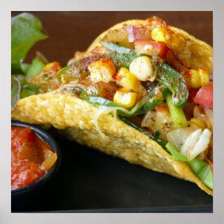 delicious Mexican Tacos photograph Poster