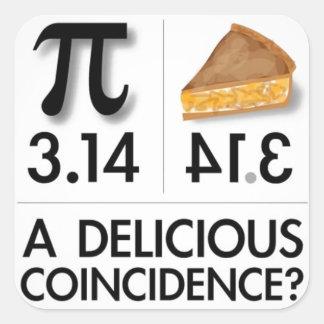 delicious pie joke square sticker