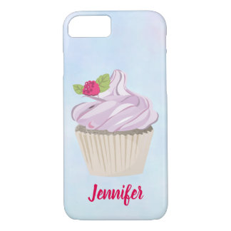 Delicious Pink Cupcake Berry on Top Custom iPhone 8/7 Case