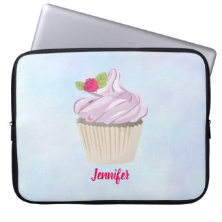 Delicious Pink Cupcake Berry on Top Custom Laptop Sleeve