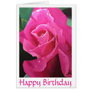 Delicious Pink Happy Birthday greeting card