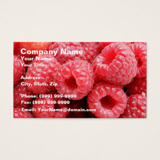Delicious Raspberries Business Card