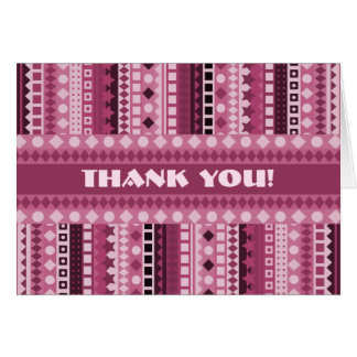 Delicious Raspberry Sherbet Pink Thank You Card