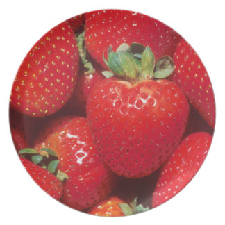 Delicious Red Ripe Strawberries Party Plate