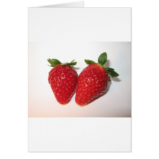 Delicious strawberries card