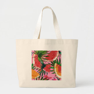 Delicious Summer Fruit Melon tasty Design Large Tote Bag
