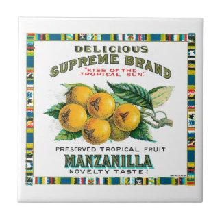 Delicious Supreme Manzanilla Preserved Tropical Fr Tile