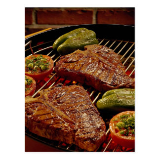 Delicious T-bone steaks Postcard