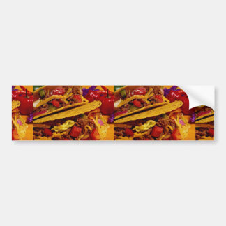 Delicious tacos dish bumper sticker