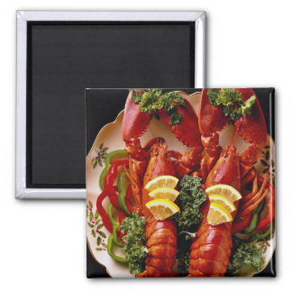 Delicious Twin lobsters Magnet