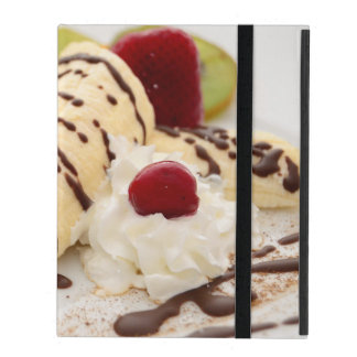 Delicious Whipped Cream and Banana Dessert iPad Case