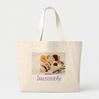 Delicious Whipped Cream and Banana Dessert Jumbo Tote Bag