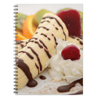 Delicious Whipped Cream and Banana Dessert Notebook