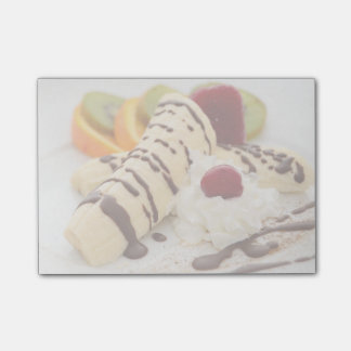 Delicious Whipped Cream and Banana Dessert Sticky Note