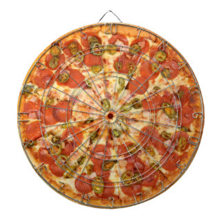 delicious whole pepperoni jalapeno pizza photo dartboard