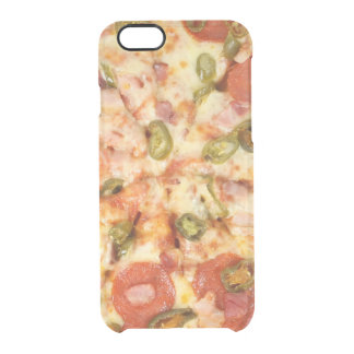 delicious whole pizza pepperoni jalapeno photo clear iPhone 6/6S case