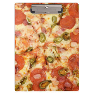 delicious whole pizza pepperoni jalapeno photo clipboard