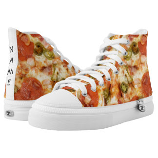 delicious whole pizza pepperoni jalapeno photo high tops