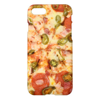 delicious whole pizza pepperoni jalapeno photo iPhone 8/7 case