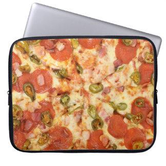 delicious whole pizza pepperoni jalapeno photo laptop sleeve