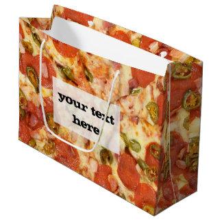 delicious whole pizza pepperoni jalapeno photo large gift bag
