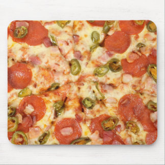 delicious whole pizza pepperoni jalapeno photo mouse pad