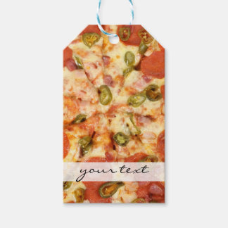 delicious whole pizza pepperoni jalapeno photo pack of gift tags
