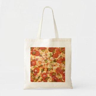delicious whole pizza pepperoni jalapeno photo tote bag
