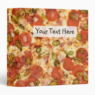 delicious whole pizza pepperoni jalapeno photo vinyl binders