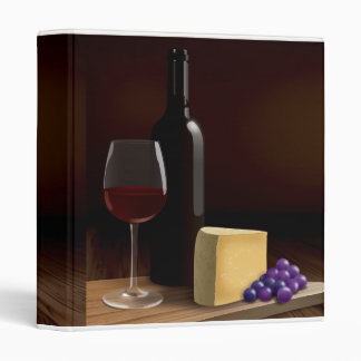 Delicious Wine and Cheese Small Recipe Binder
