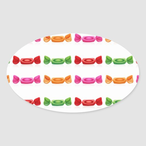 DELICIOUS WRAPPED CANDY VECTORS GRAPHICS GREEN RED STICKER