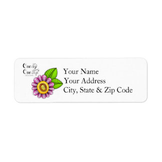 Delight Positive Thought Doodle Flower Label
