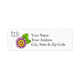 Delight Positive Thought Doodle Flower Label Return Address Label