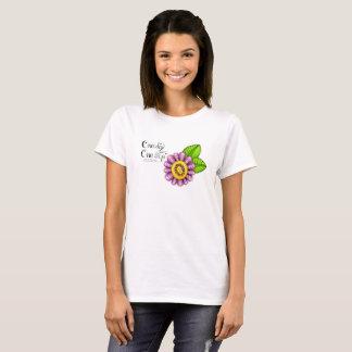 Delight Positive Thought Doodle Flower T-Shirt