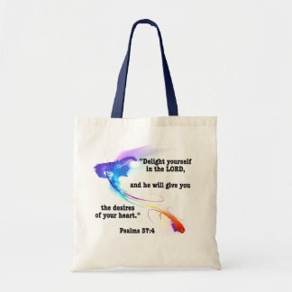 Delight yourself in the Lord Budget Tote Bag