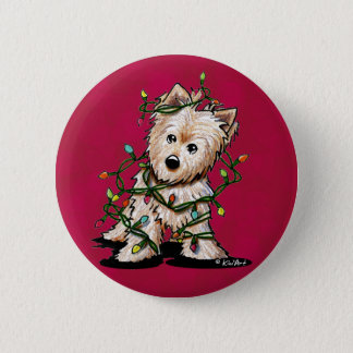 DeLighted Terrier Dog 2 Inch Round Button