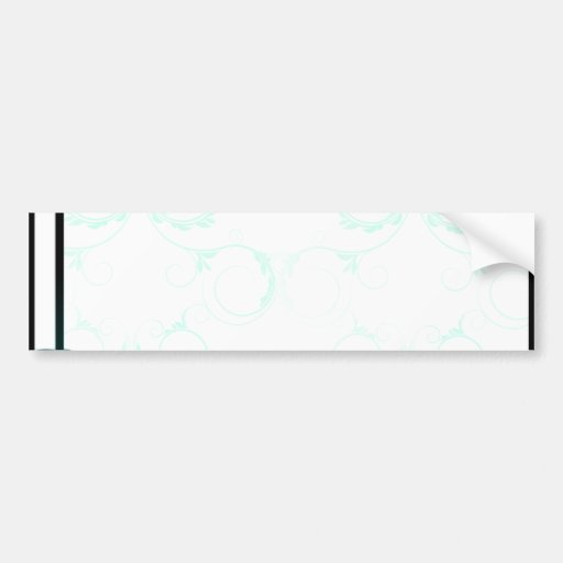 Delightful aqua blue swirls bumper sticker