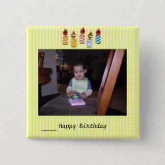 Delightful Birthday Photo Template 2 Inch Square Button
