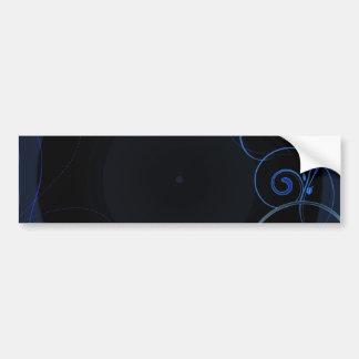 Delightful bluish swirls special gift bumper stickers