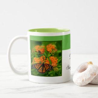 Delightful Butterfly Two-Tone Coffee Mug